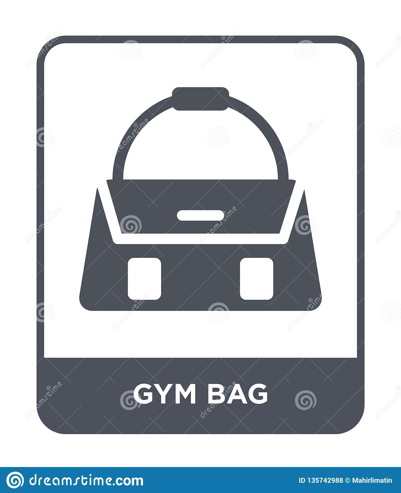 Gym torby ikona w modnym projekta stylu gym torby ikona odizolowywająca na białym tle gym torby wektorowej ikony prosty i nowożyt