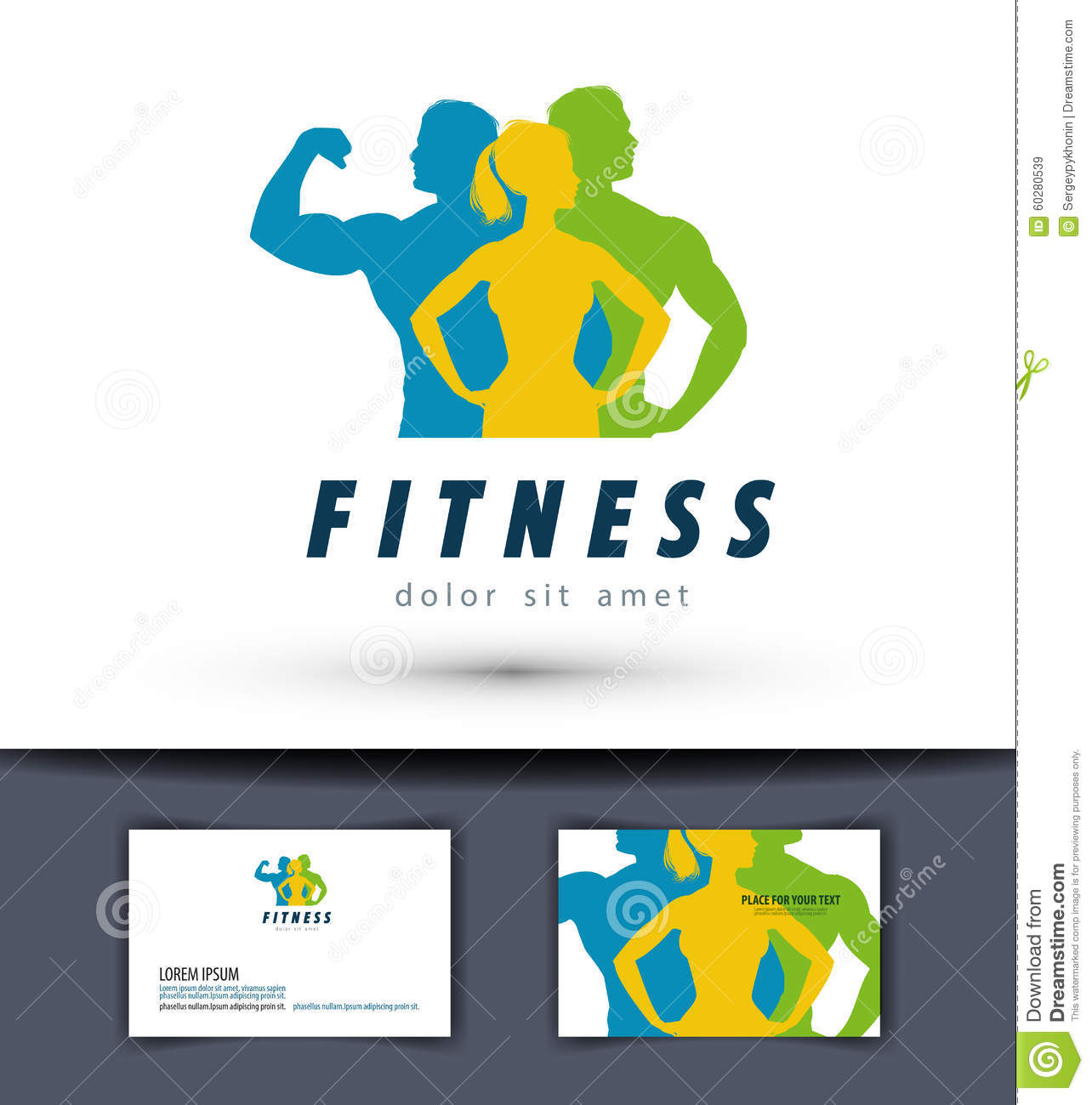 gym vector logo design template fitness or sports stock