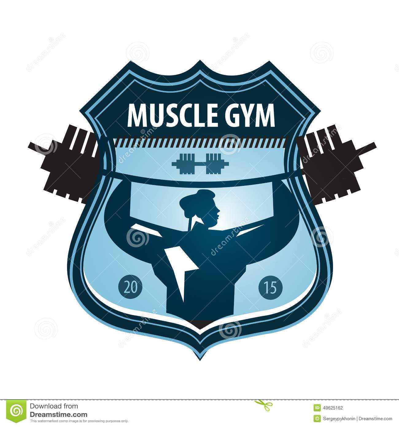 Gym Vector Logo Design Template. Heavy Athletics Stock