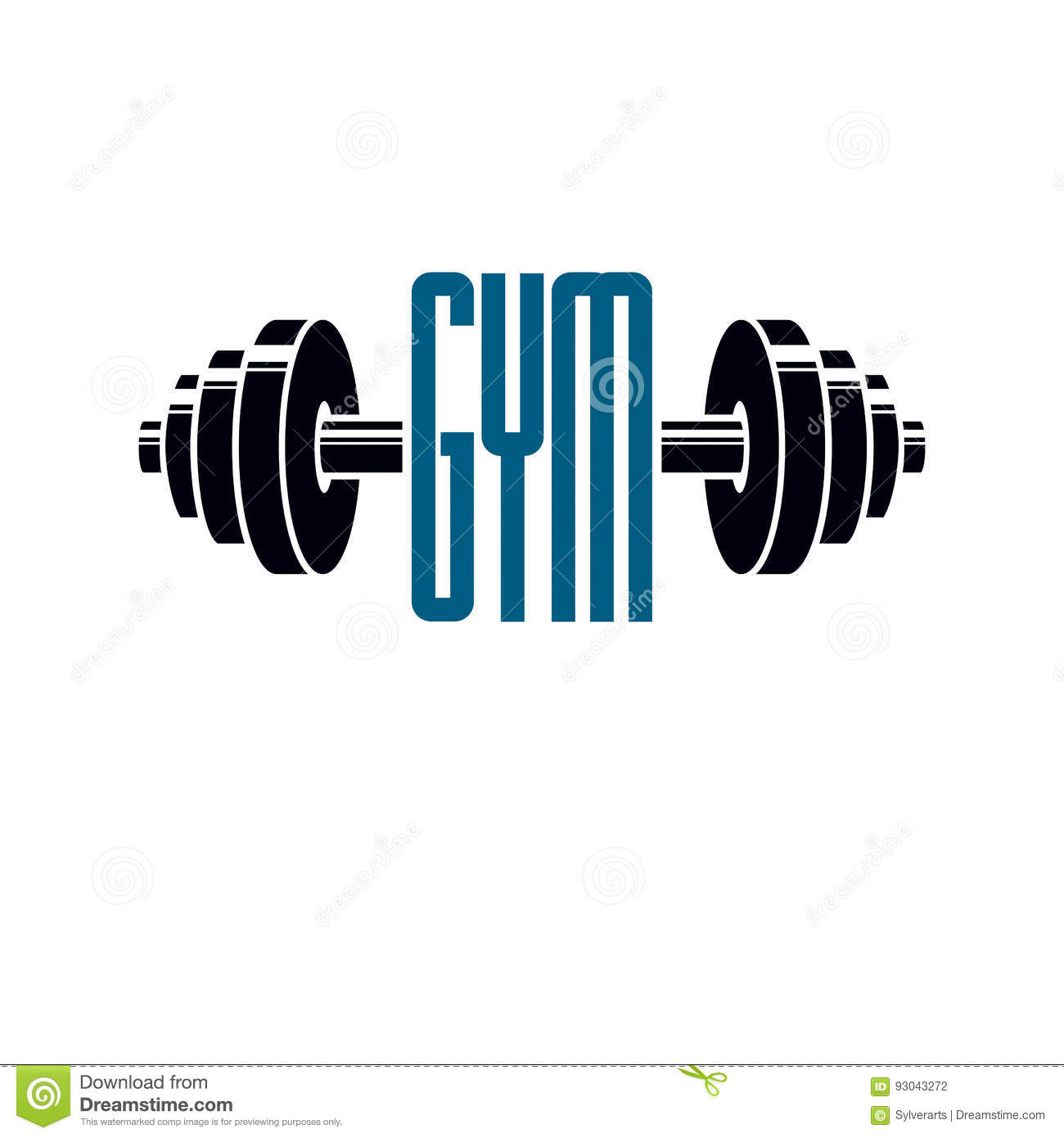 Gym Weightlifting And Fitness Sport Club Logo Retro Style