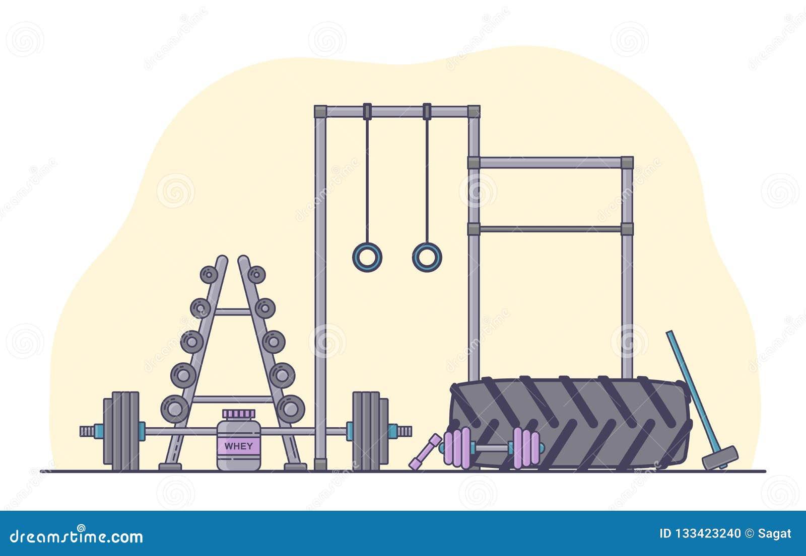 Gym wyposażenia set Różnorodni sprawności fizycznych akcesoria inkasowi Bodybuilding i crossfit equipement odizolowywający Mieszk