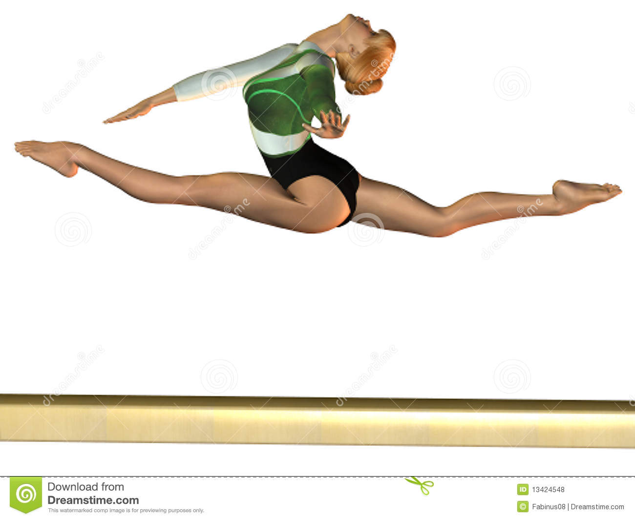Viewing Gallery For - Gymnastics Clipart On Beam