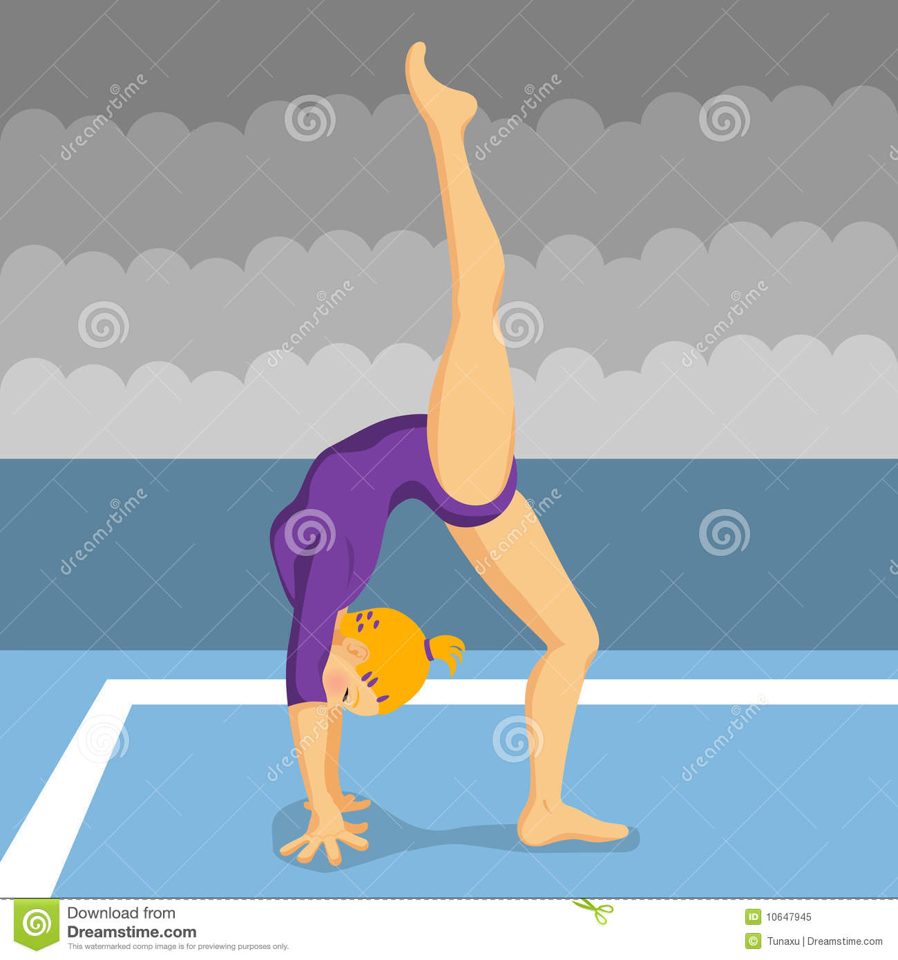 Gymnast Girl Royalty Free Stock Photo - Image: 10647945