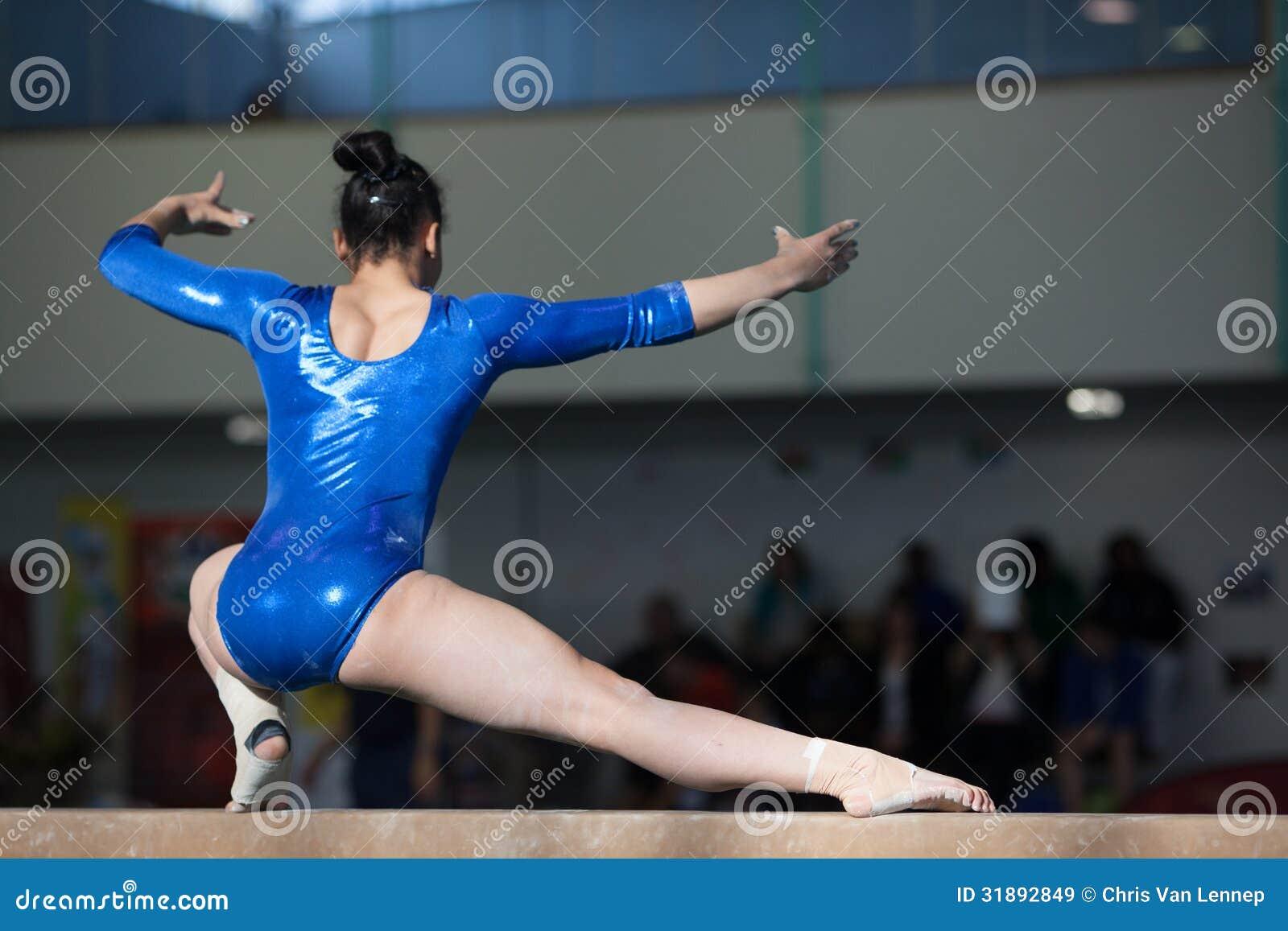 Girl On Balance Beam