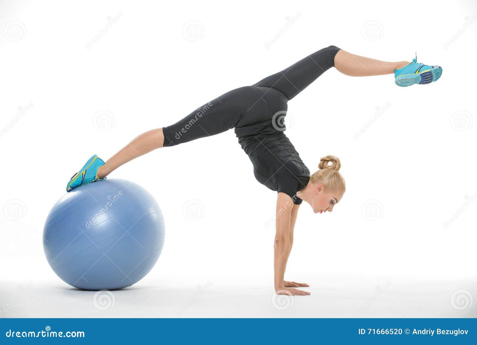 Sexy blonde gymnast