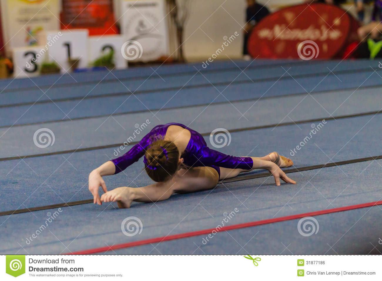 Gymnast Young Girls Floor Dance Style Editorial Photo