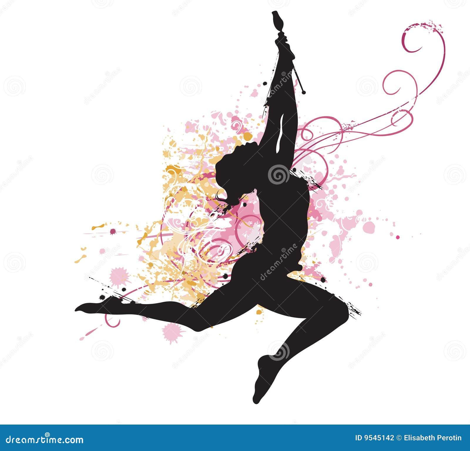 Gymnaste illustration de vecteur illustration du peinture 9545142 - Dessin gymnaste ...