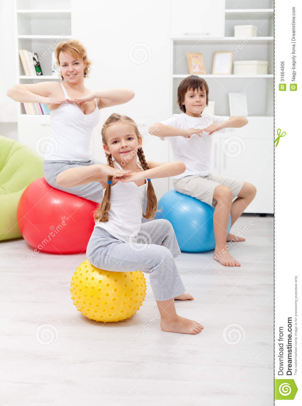 gymnastic exercise with the kids - Exercise Pictures For Kids