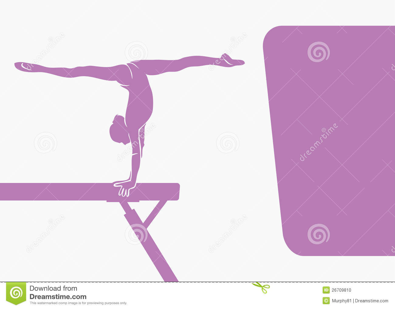 Gymnastics Beam Background Stock Vector Illustration Of