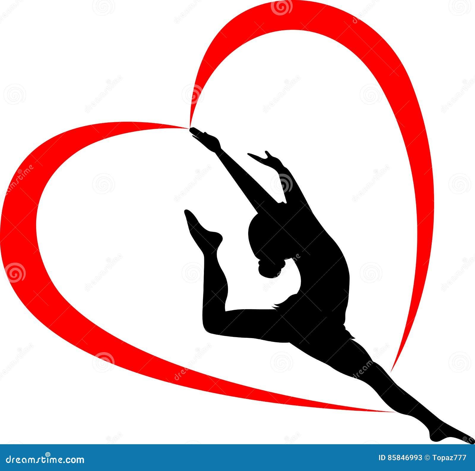 Gymnastics logo. gymnast athlete.