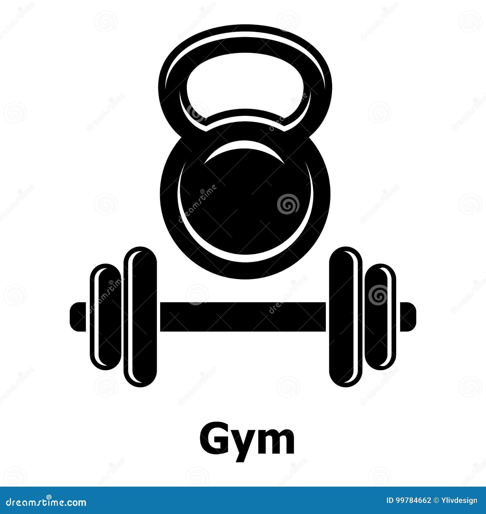 Gymnastiek metall pictogram, eenvoudige zwarte stijl