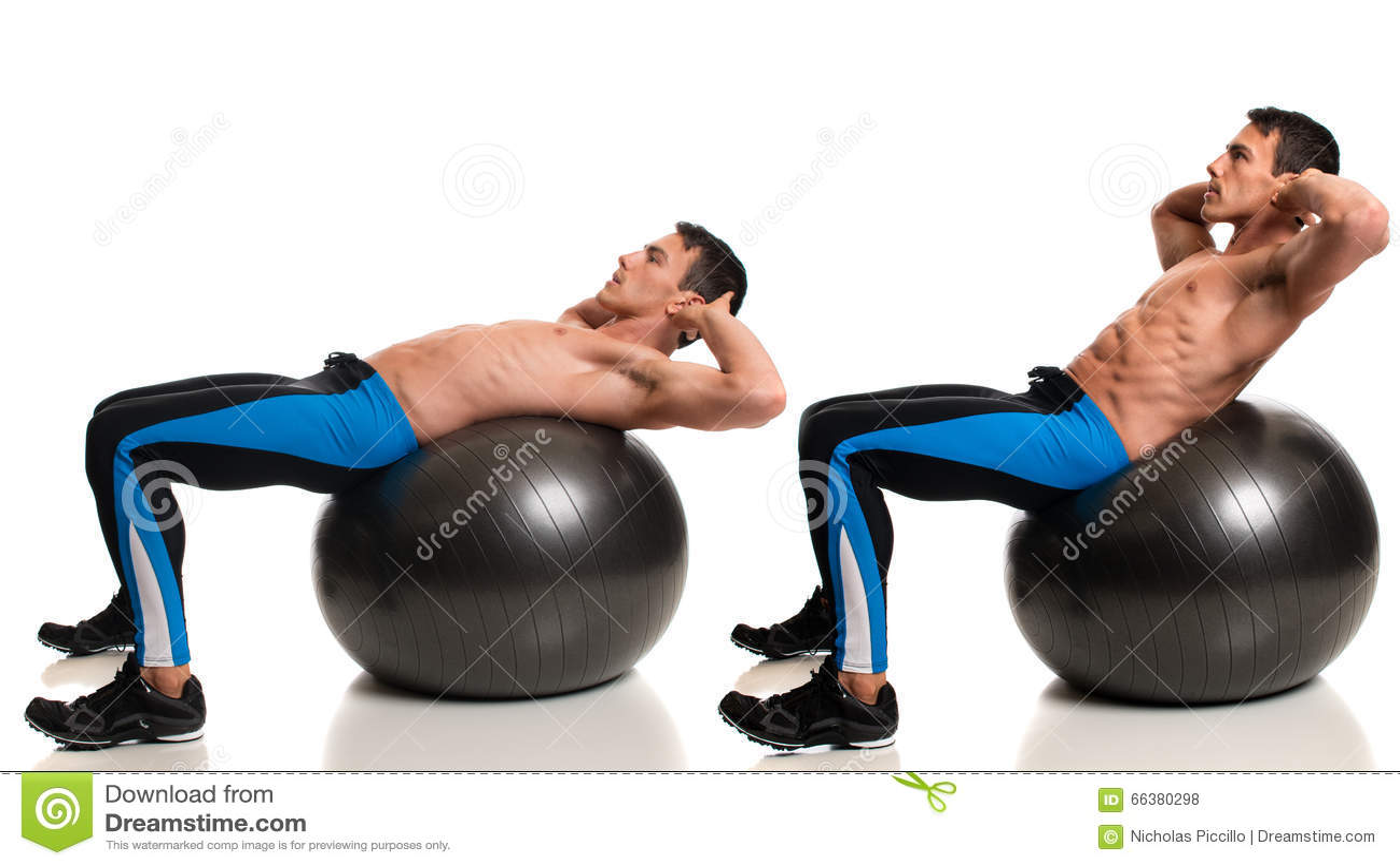 Gymnastikball-Übung