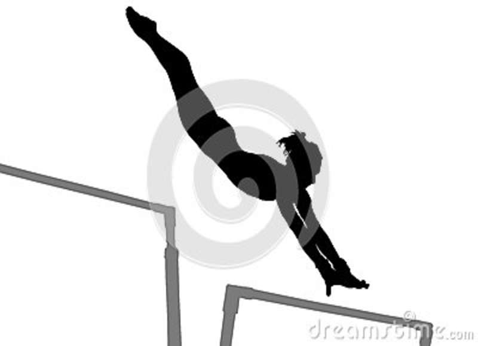 Gymnastikkvinnakontur