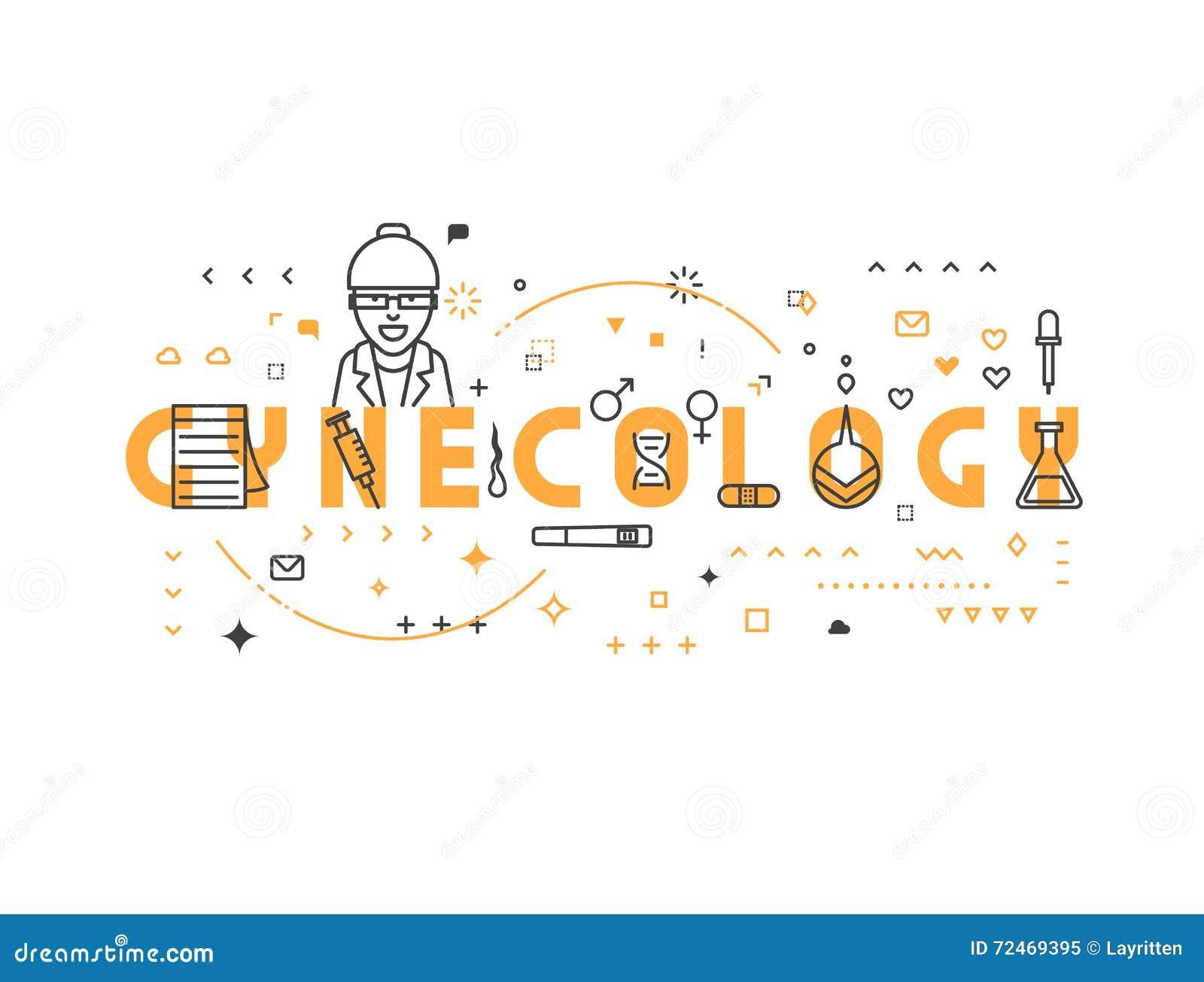 Gynécologie de concept de médecine
