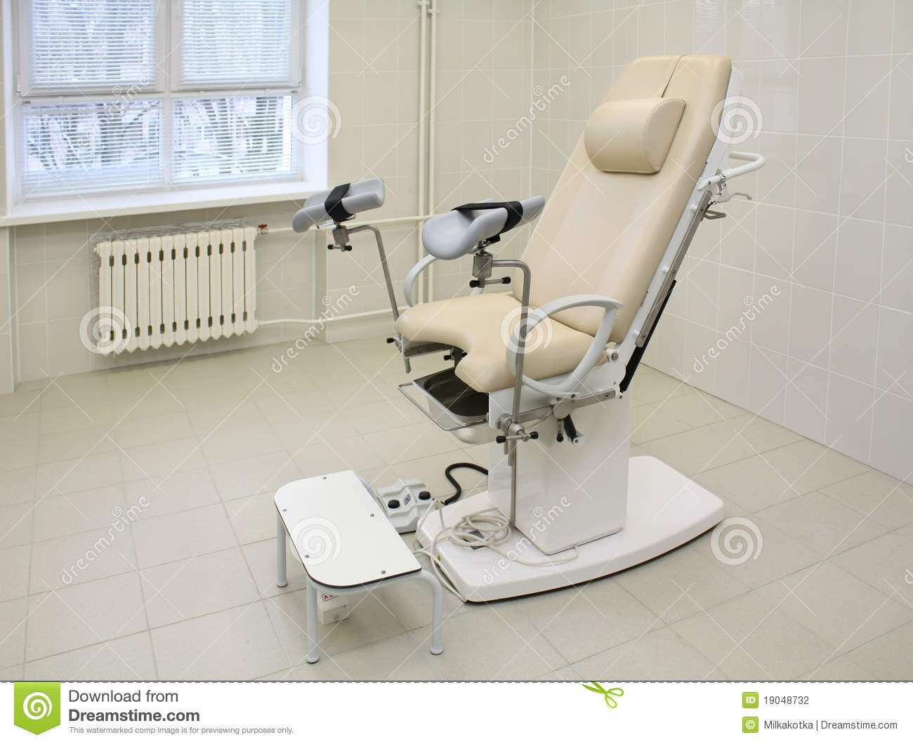 Gynecological Chair In A Medical Office Stock Photography
