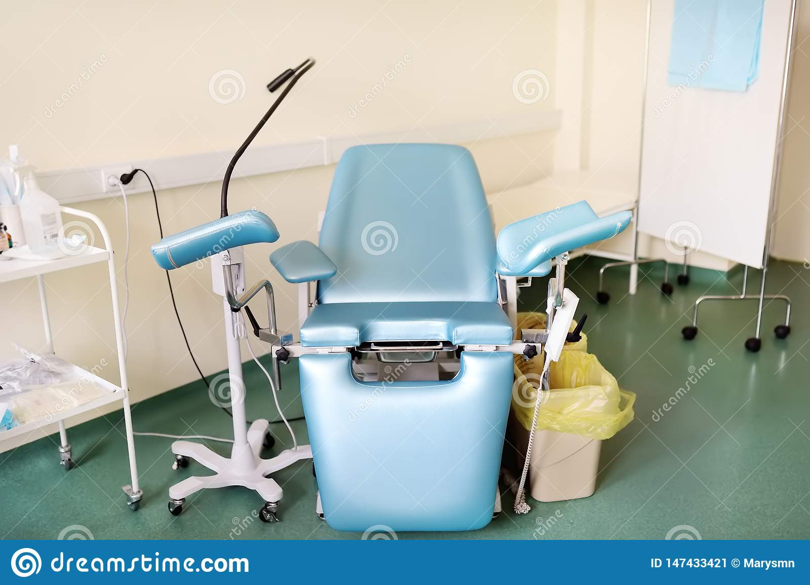 Gynecology room with gynecology chair on clinic or hospital