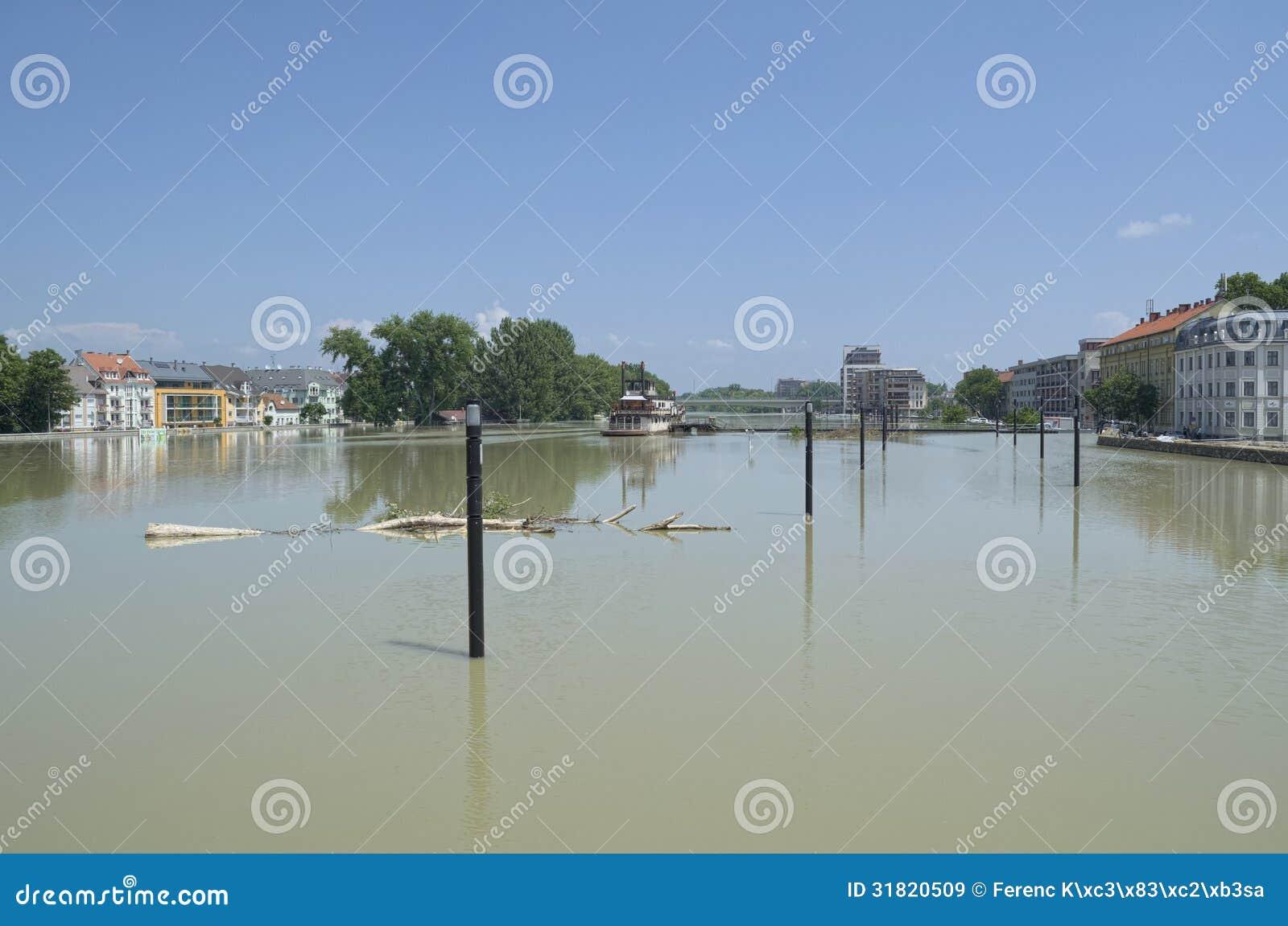 Gyor Hungary Europe June 8th 2013 Flooding Danube