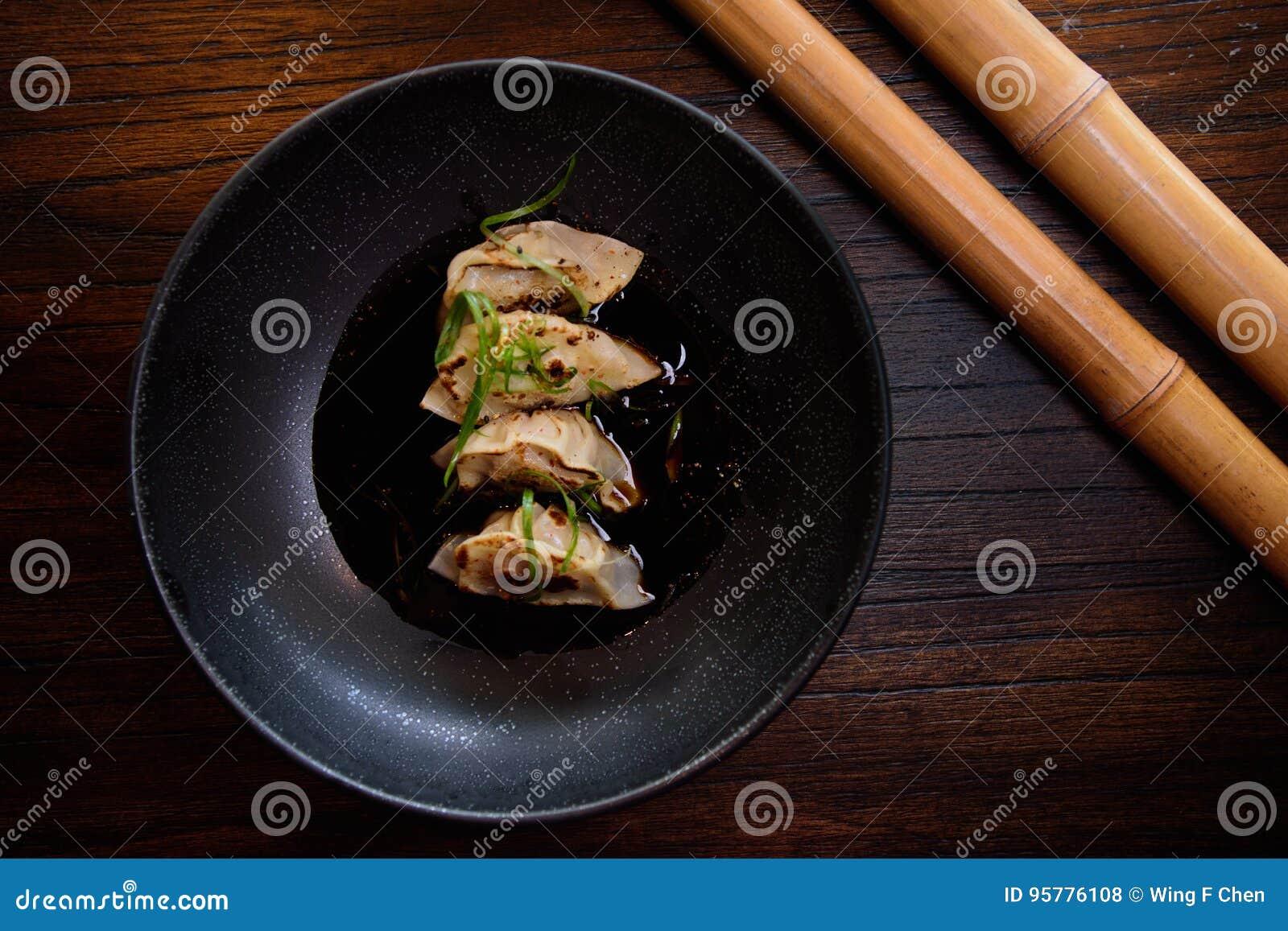 Gyoza frit par casserole