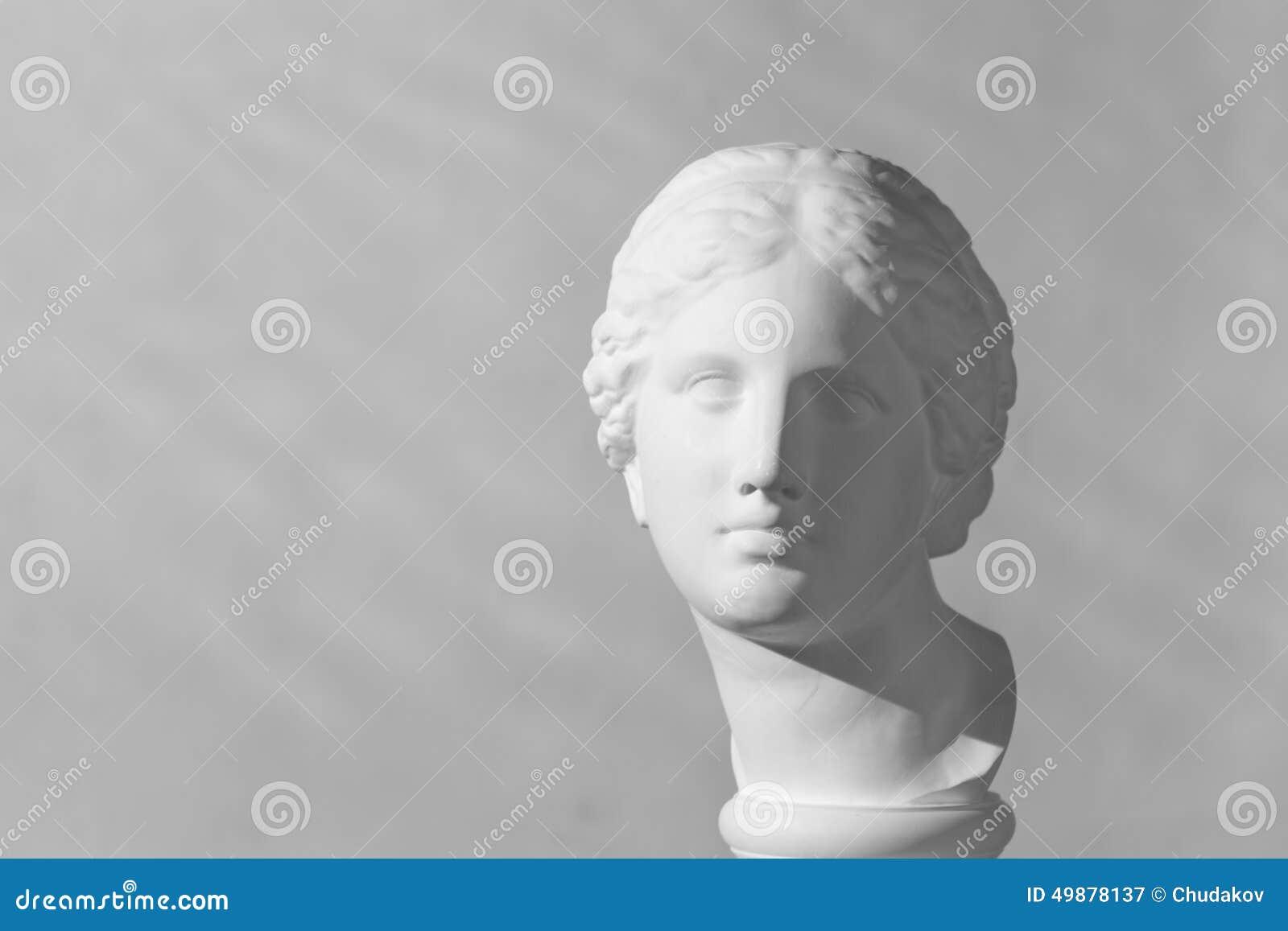 Gypsum head. Aphrodite