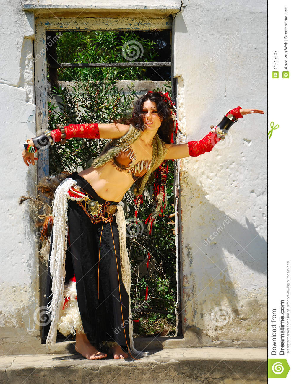 Gypsy belly dancer woman stock image. Image of clothes ...