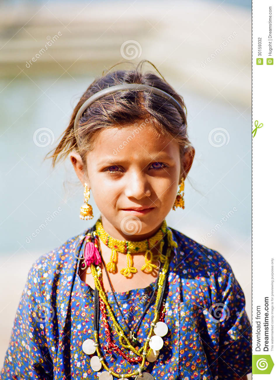 Gypsy Girl In Pushkar, Rajasthan India Editorial Photography - Image ...