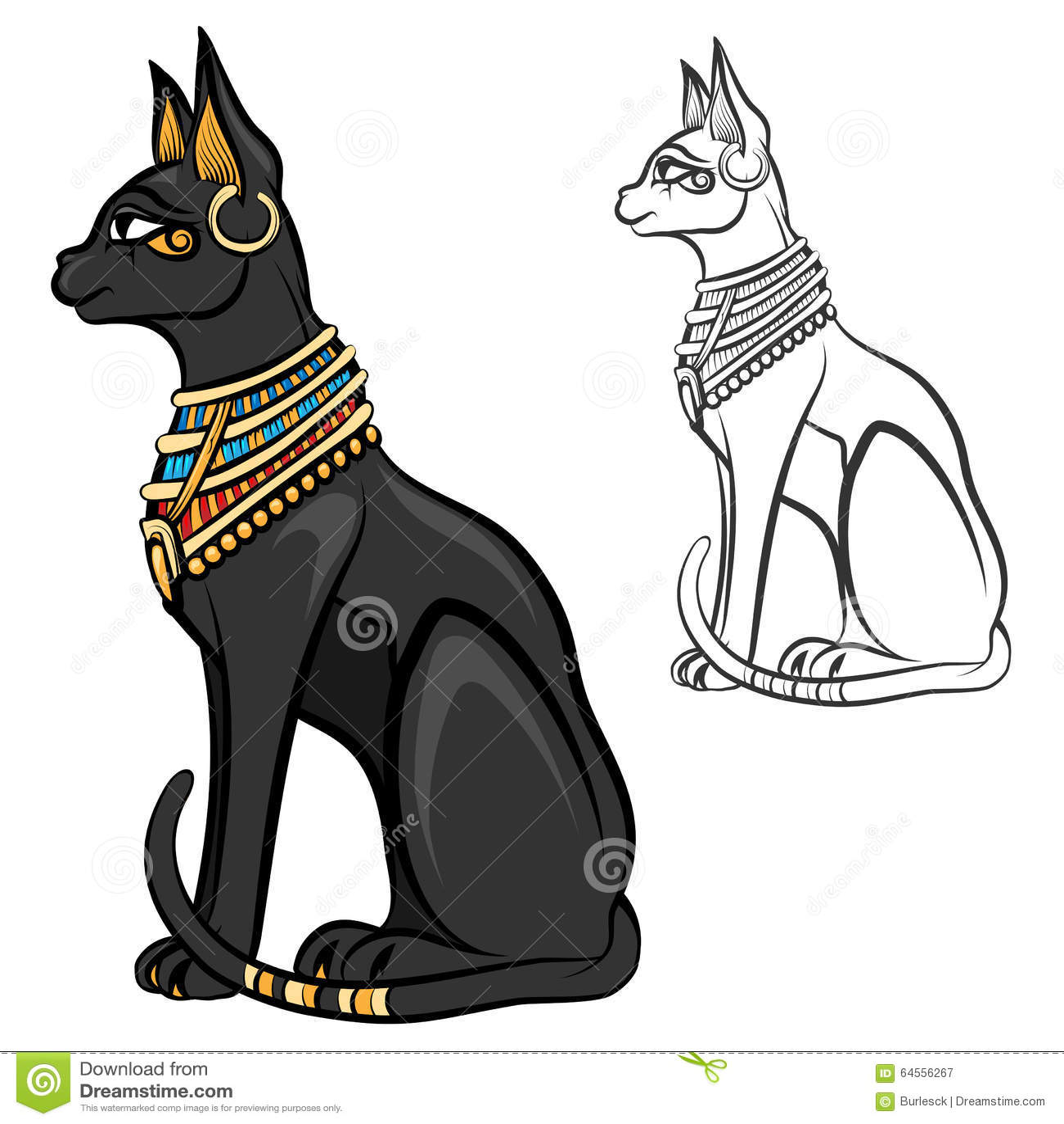 gypten Katzengttin Bastet Vektor Abbildung Bild