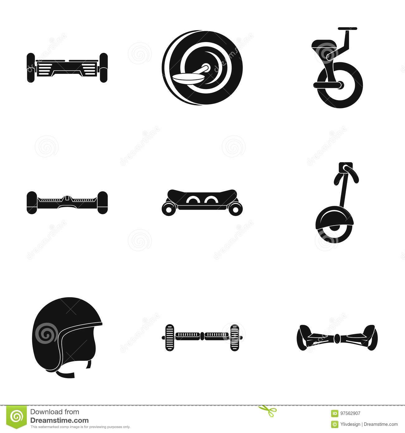 Gyroscooter Icon Set Simple Style Stock Vector Illustration Of Electrical Symbol Isolated On A White Background