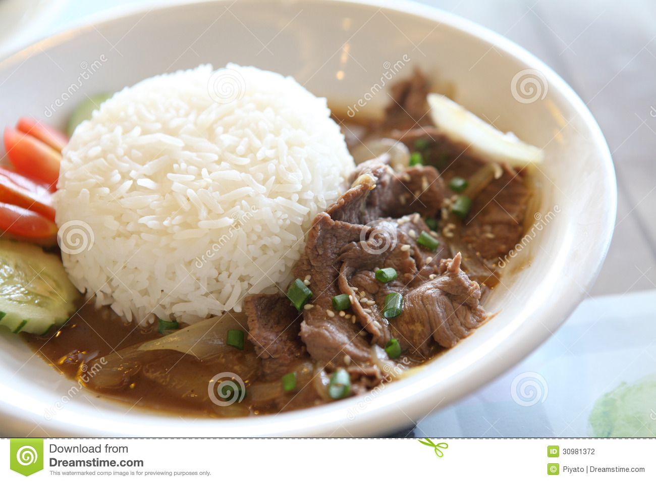 Gyudon ,Japanese Beef Rice Bowl. Stock Photography - Image: 30981372