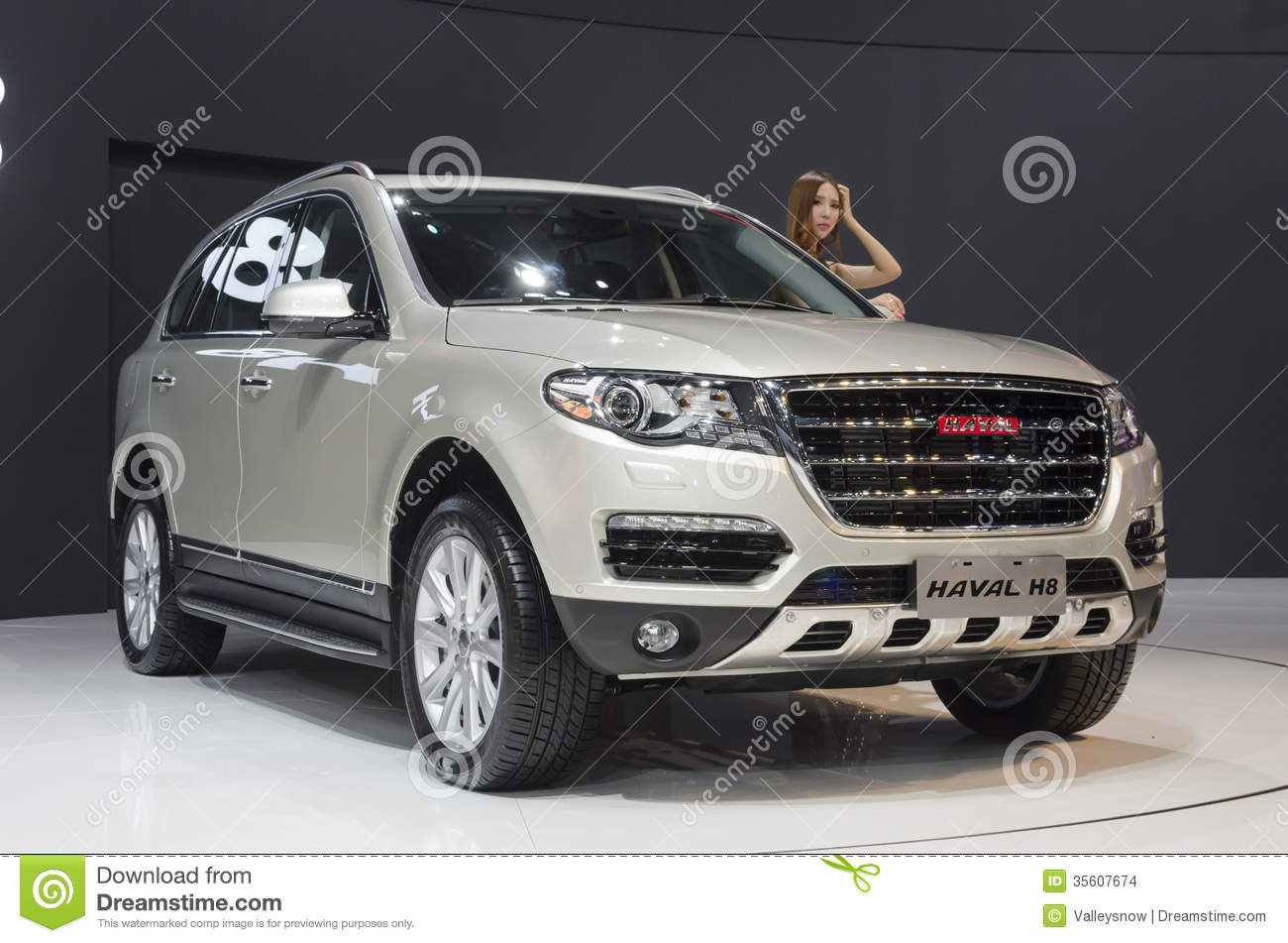 2013 gz autoshow haval h8 suv editorial stock image for Great wall motors stock