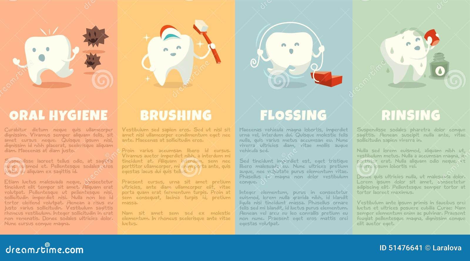 Häfte för muntlig hygien med den gulliga tanden