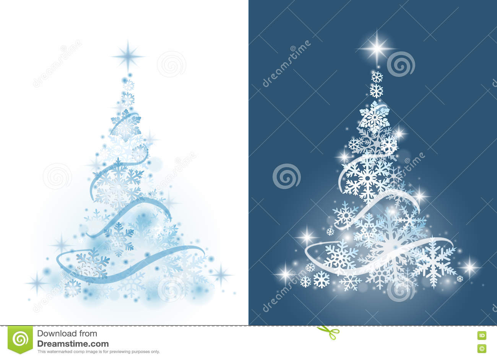 Häftig snöstormjulen tecknar treen för effektpälssnowflakes som