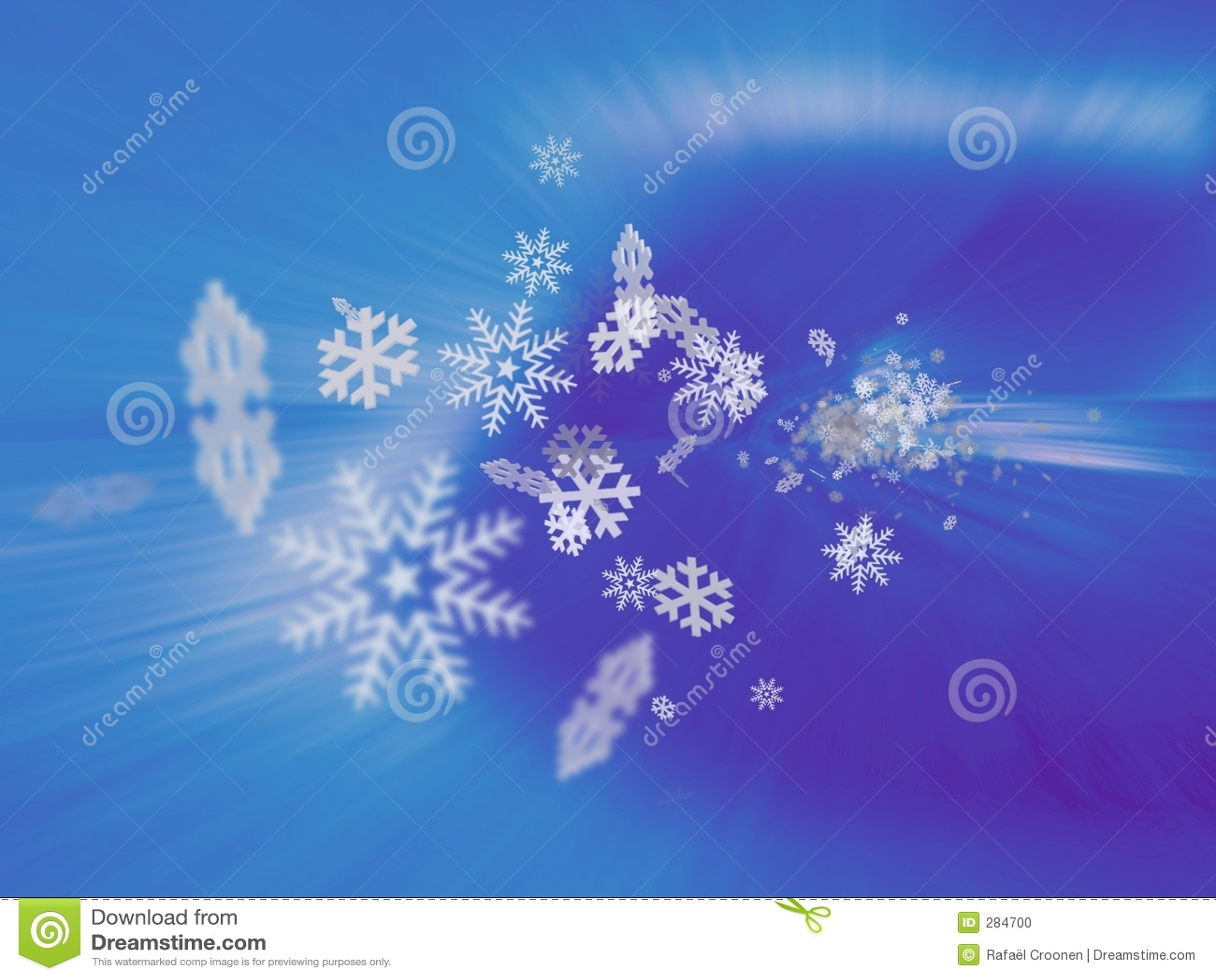 Häftig snöstormsnowflake