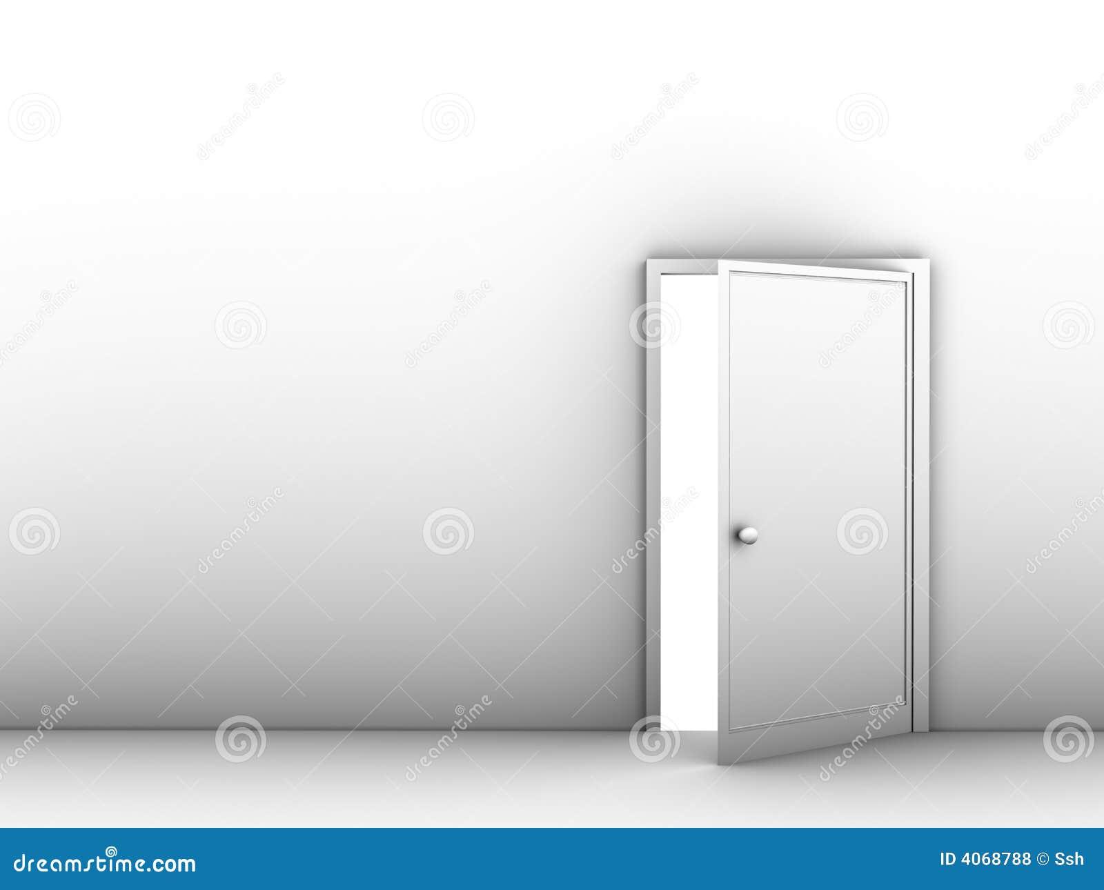 Halb geöffnete tür  Hälfte-geöffnete Tür Lizenzfreie Stockfotos - Bild: 4068788