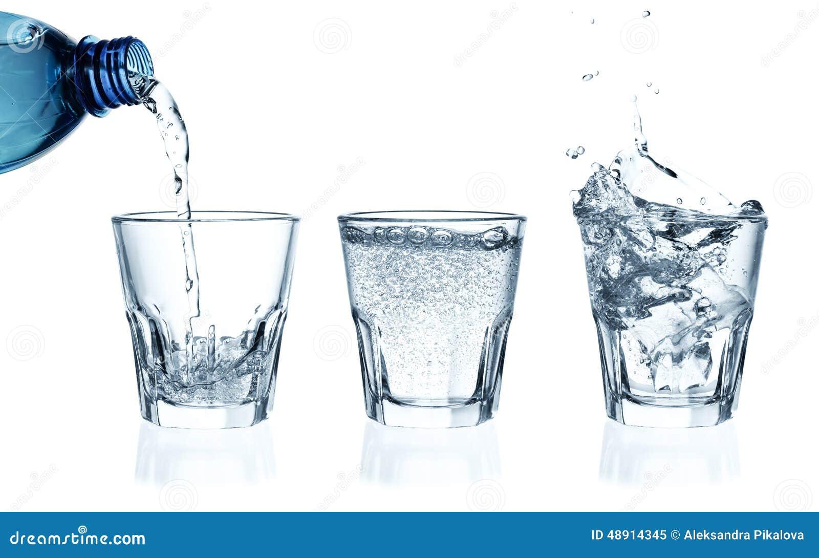 Hällande vatten för exponeringsglas