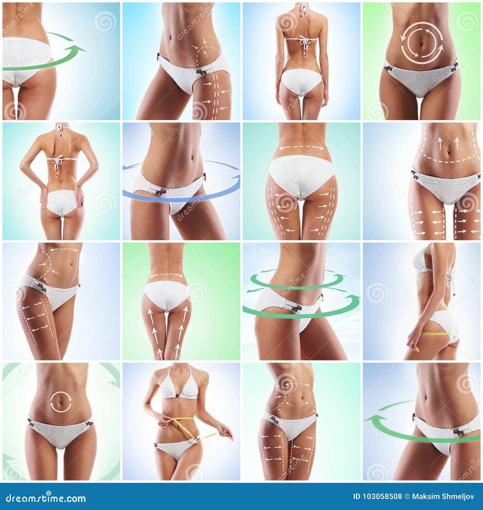 Hälsa sporten, kondition, näring, viktförlust, bantar, celluliteborttagning, liposuctionen, sunt liv-stil begrepp