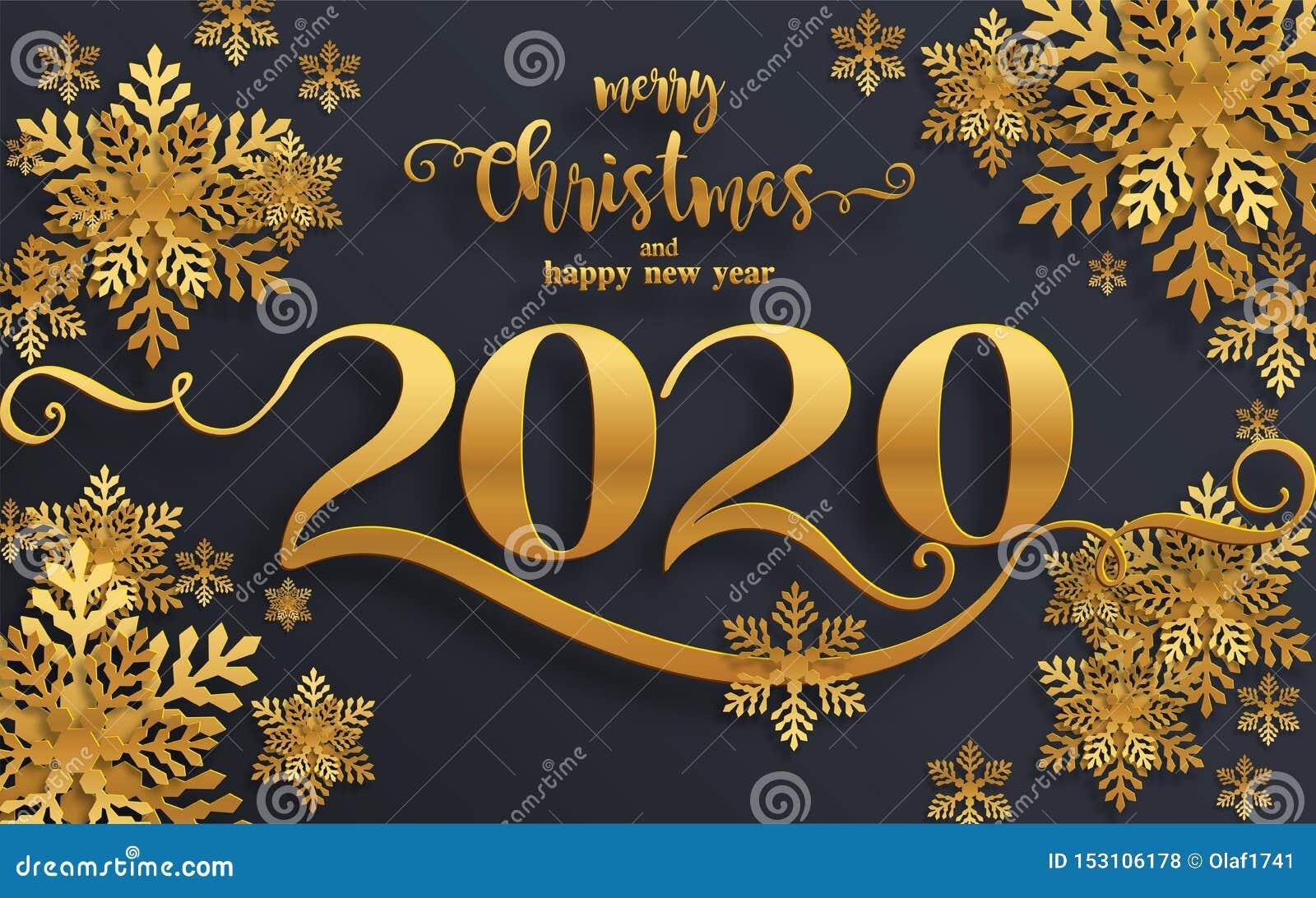 Hälsningar och lyckligt nytt år 2020 för glad jul