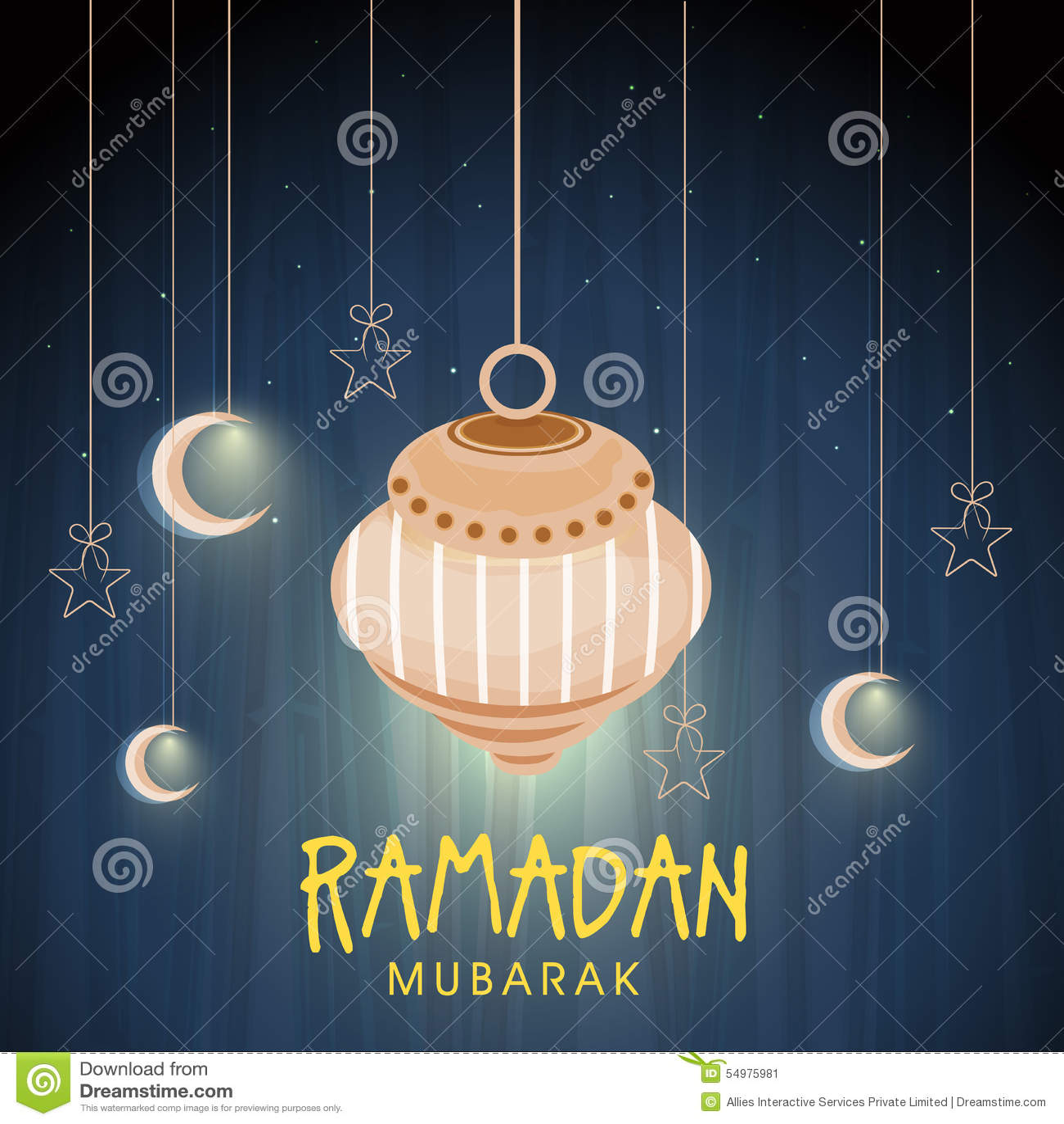 Hälsningkort för den islamiska heliga månaden, Ramadan Kareem beröm
