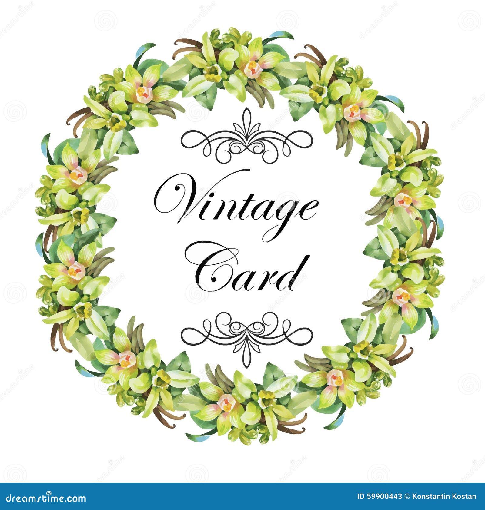 Hälsningkortet med blommor, vattenfärg, kan användas som inbjudankortet för att gifta sig, födelsedag och annan ferie