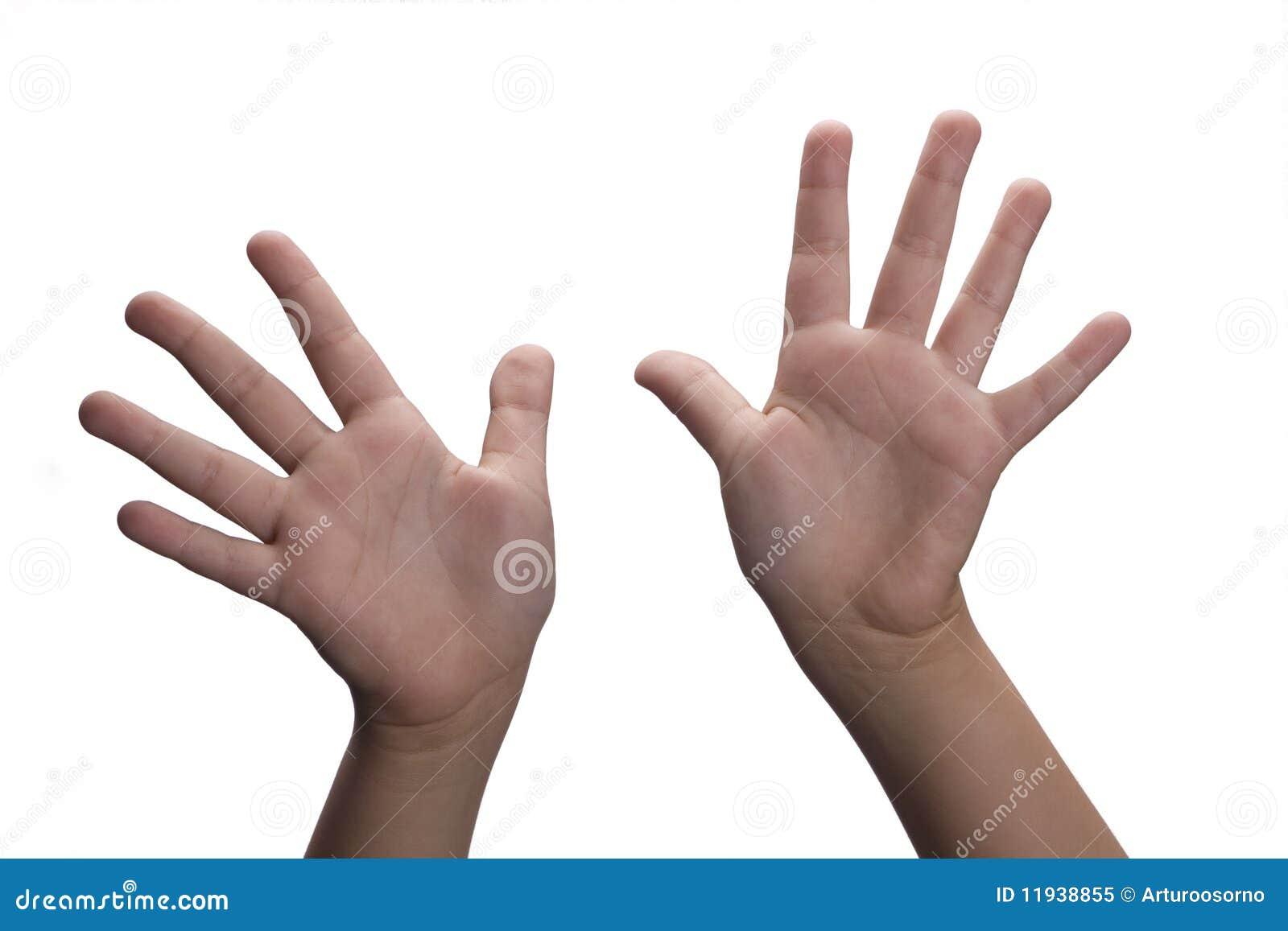 Hände öffnen sich