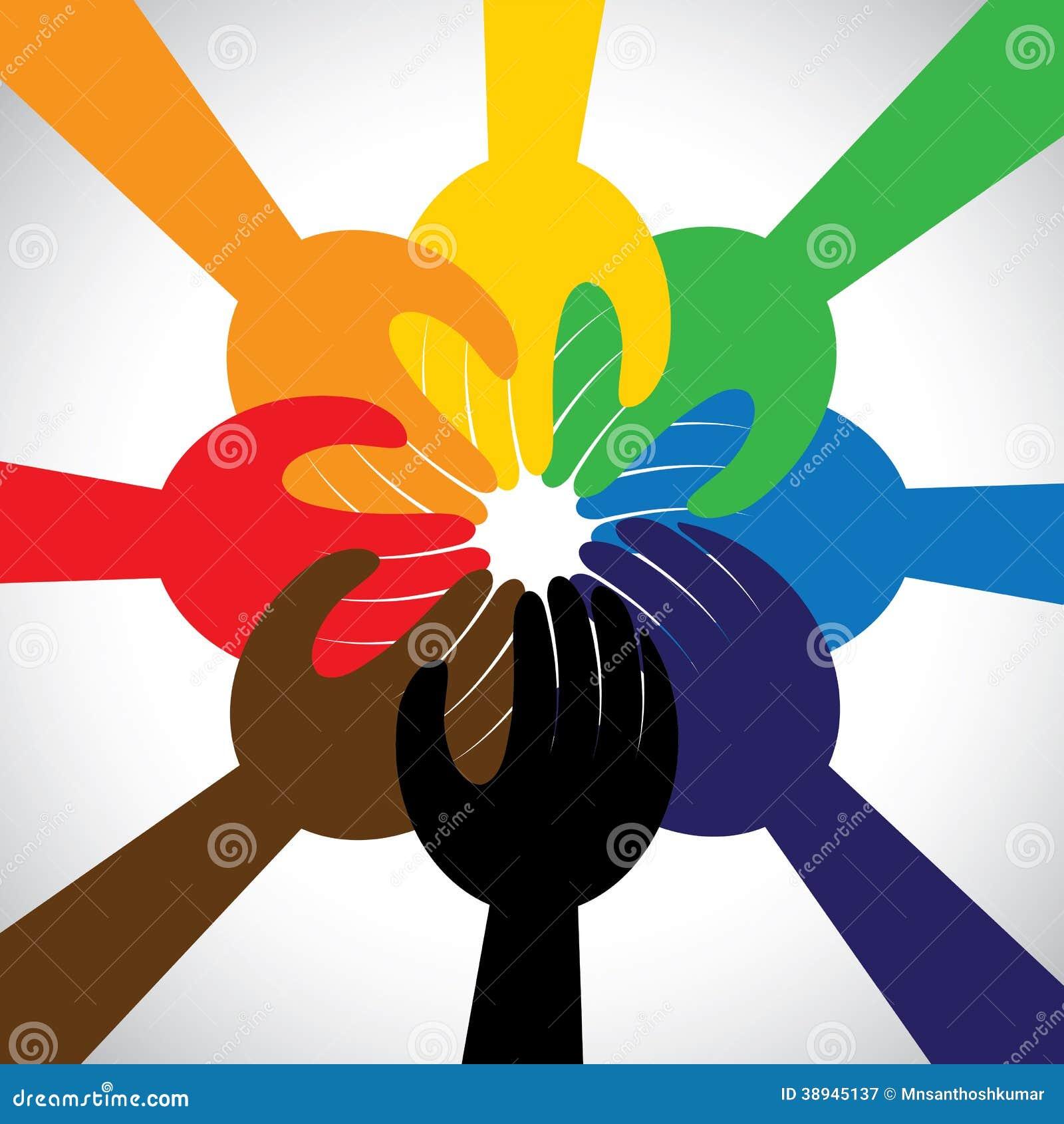 Hände, die Bürgschaft, Versprechen - Konzeptvektor nehmen