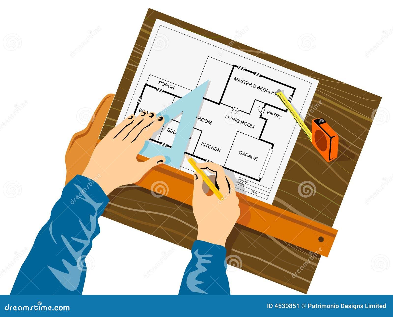 Draw A House Plan H 228 Nde Die Hausplan Zeichnen Stockbild Bild 4530851