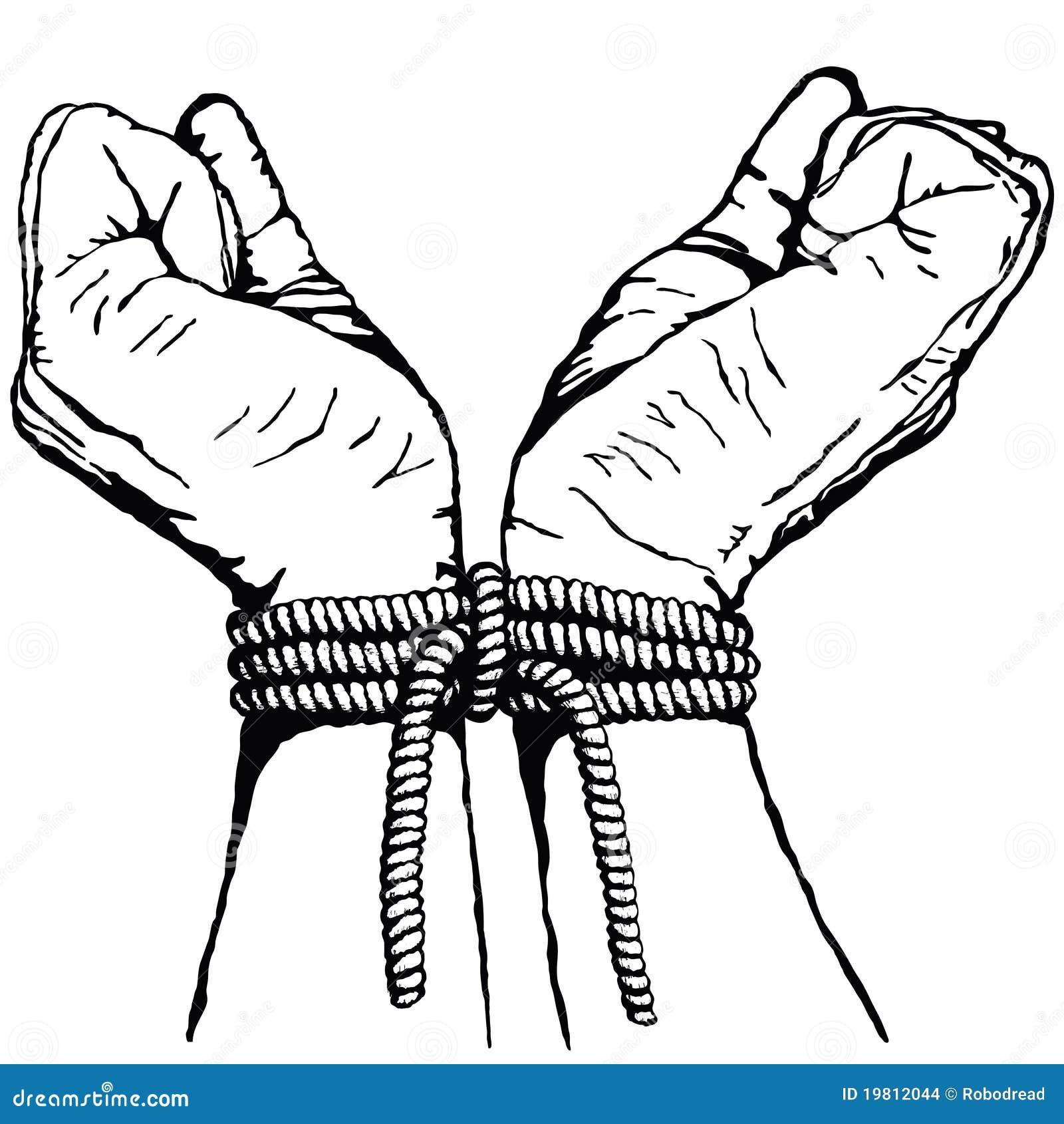 Hände gebunden