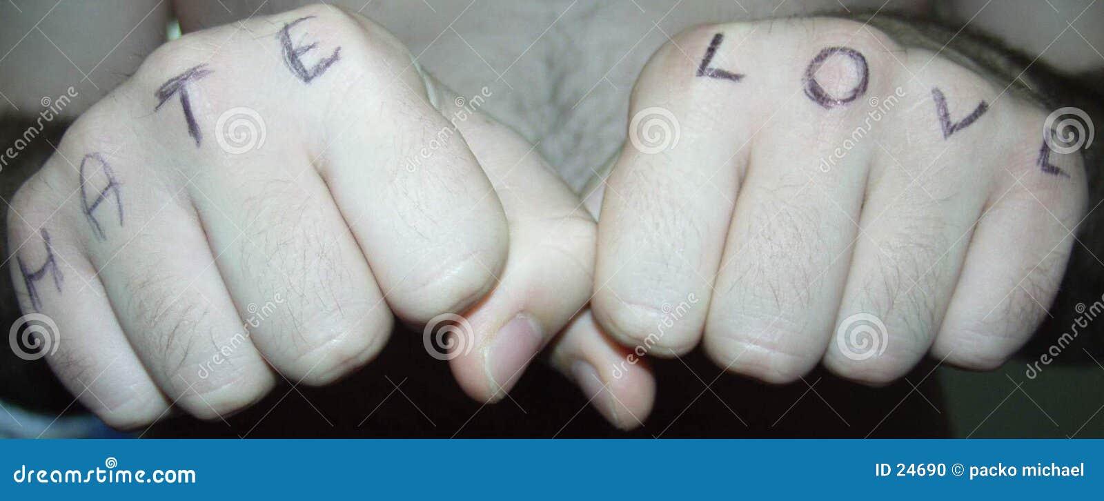 Hände: Liebe und Hass