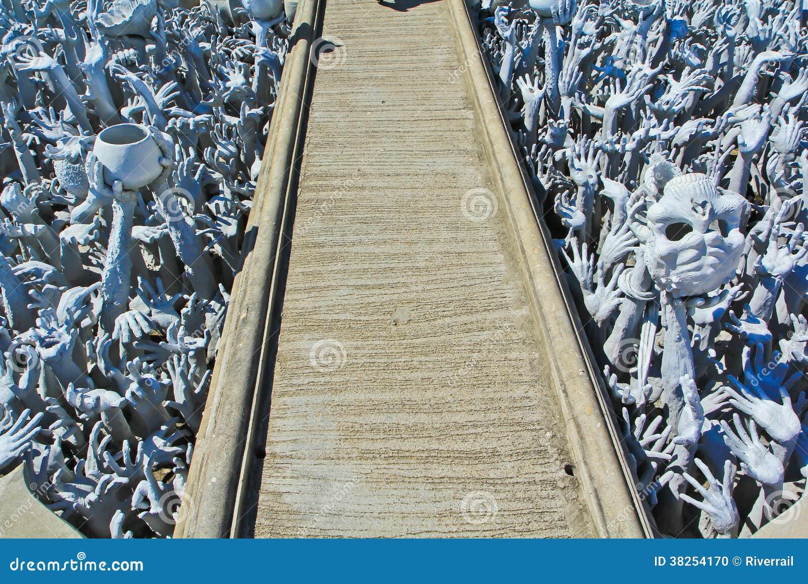 Hände von der Hölle, Kunst bei Wat Rong Khun, Thailand