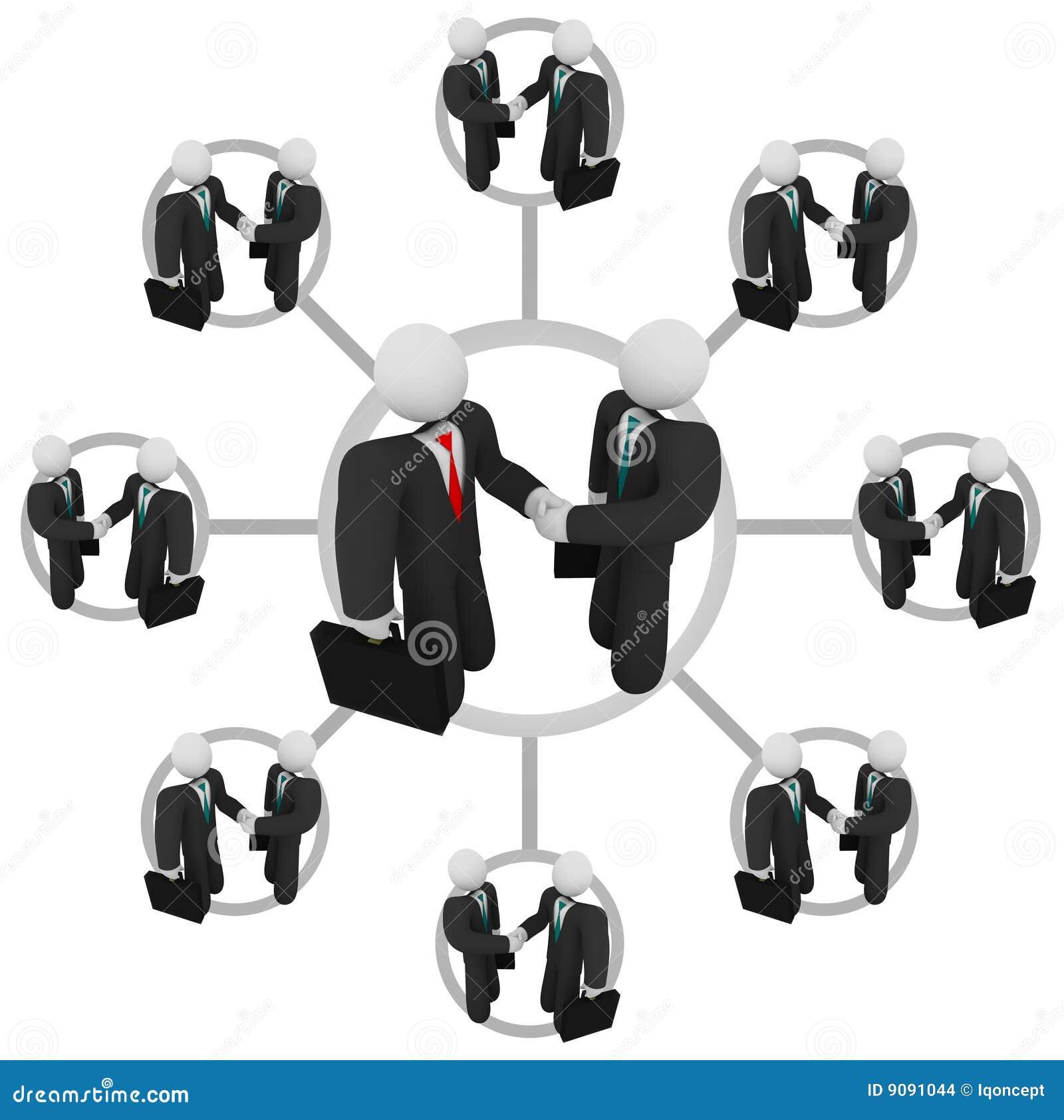 Händedruck - Geschäfts-Netz