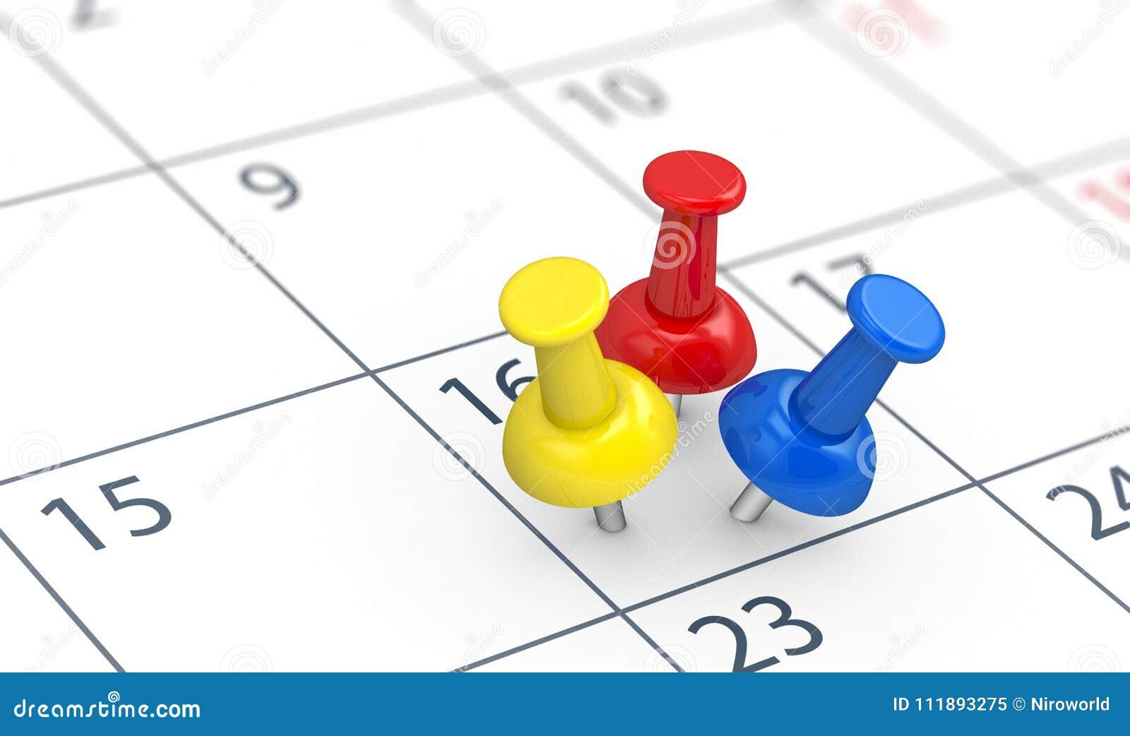 Händelser på upptaget begrepp för kalenderdag