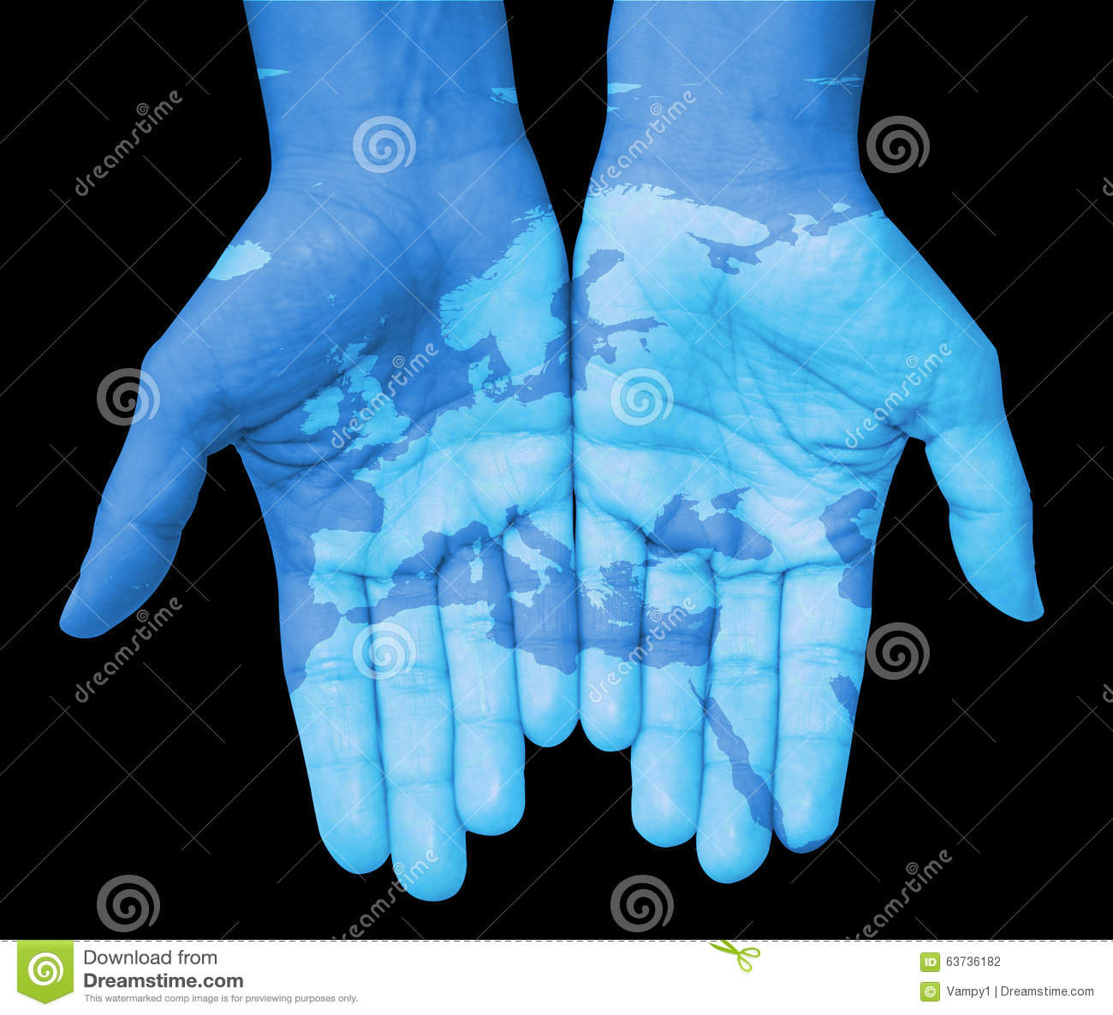 Händer med Europa, dragen översikt av Europa
