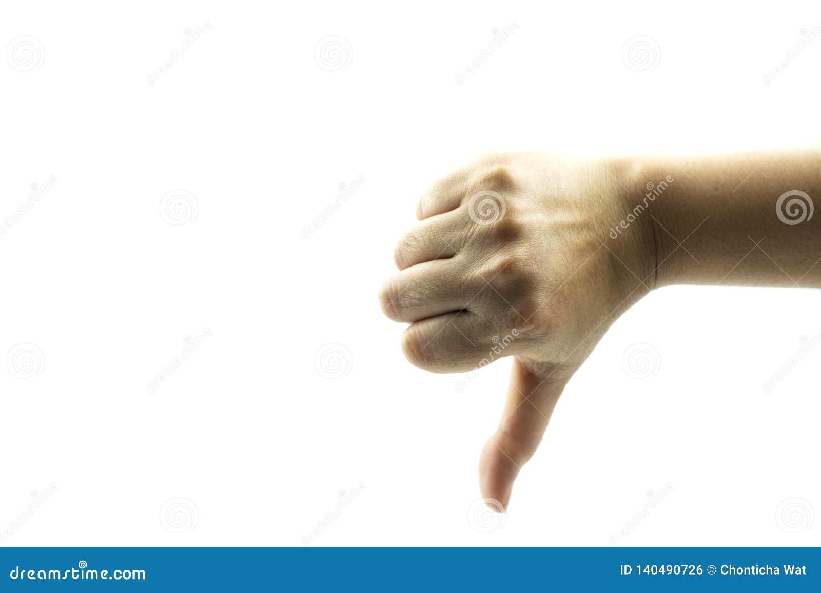 Händer som visar gester