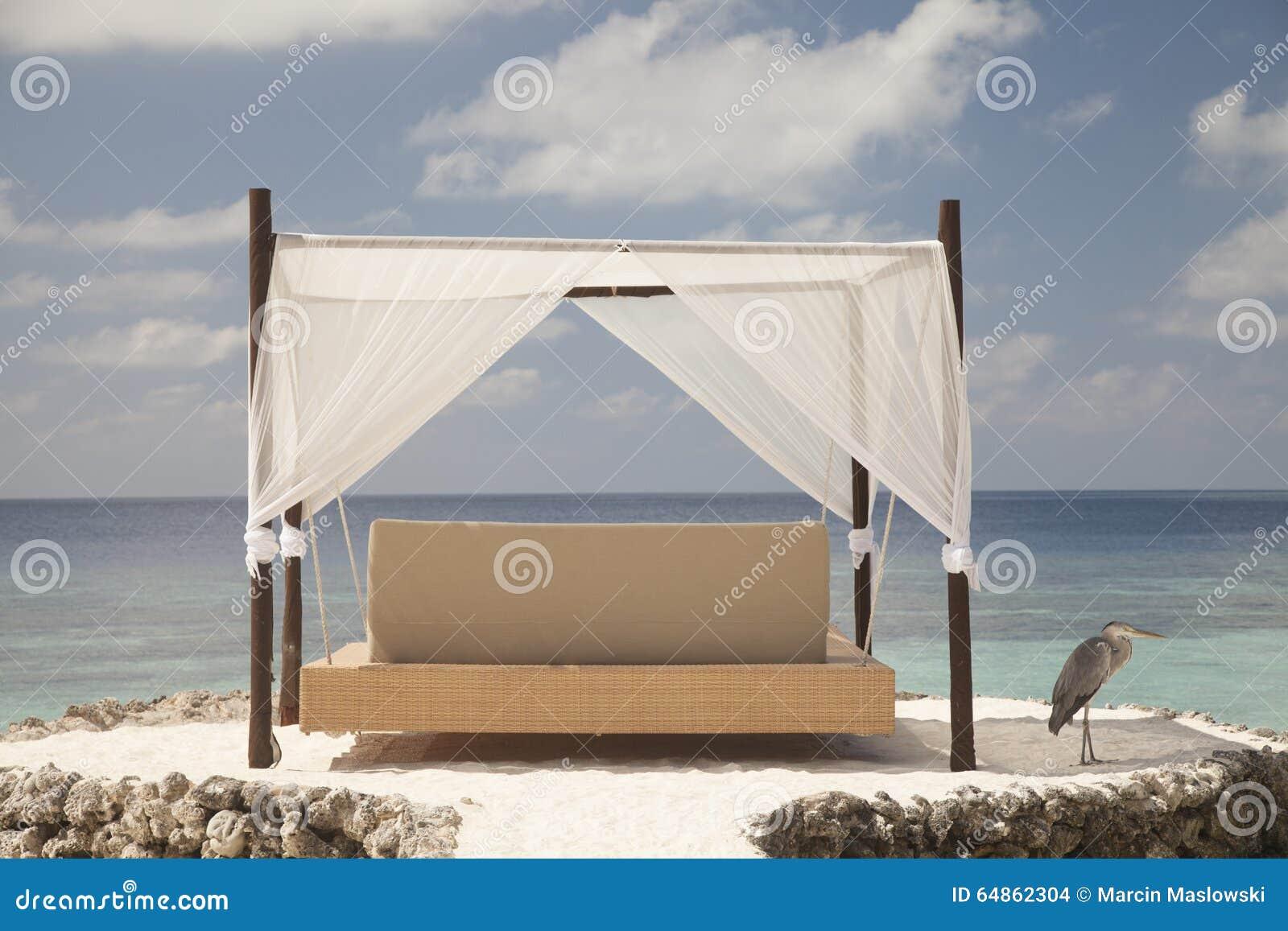 Malerisch Hängendes Bett Foto Von Pattern Hängendes In Den Malediven Stockfoto -