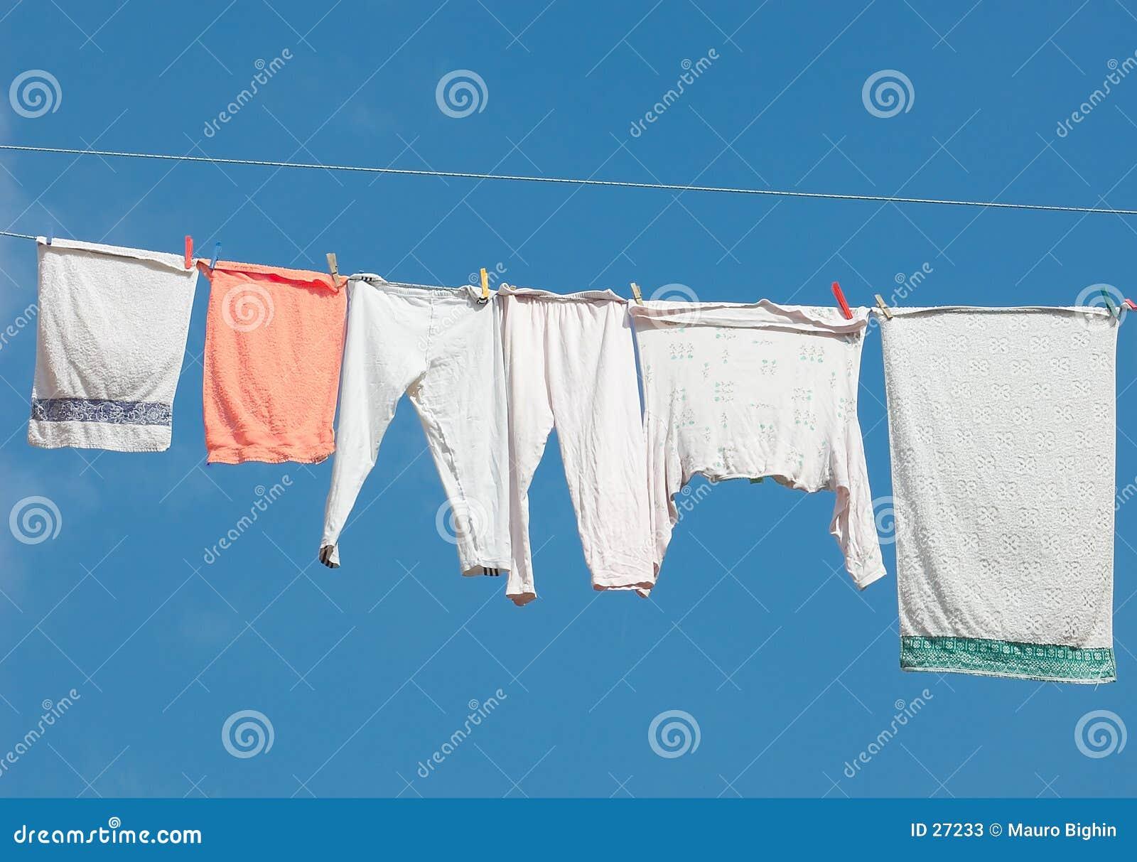 Hängendes heraus sich waschen
